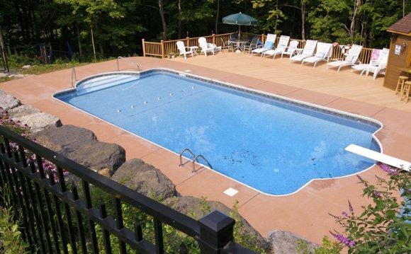 Inground pool installation