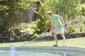 an easy pool maintenance program keeps your inground pool in good shape.