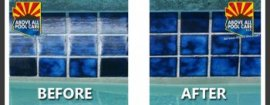 before and after pool tile cleansing gilbert az