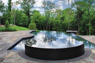 Drakeley Pools bluestone share deck