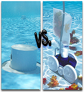 In-Floor pool cleaners VS. On-Floor pool cleaners