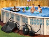 Above ground pool heater installation
