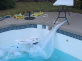 Fiberglass pool steps repair