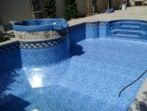 Repair vinyl pool liner tear