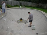 Swimming pool concrete repair
