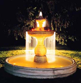 TWO TIERED FOUNTAIN TIMELESS TUSCAN FOUNTAINS -ITALIAN VILLA FOUNTAIN